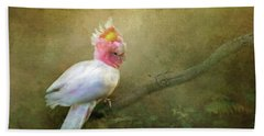 Beach Sheet featuring the photograph Major Mitchell's Cockatoo by Wallaroo Images