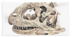 Majungasaur Skull Beach Towel