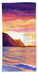 Makana Sunset Beach Sheet by Marionette Taboniar