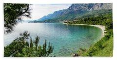 Makarska Riviera White Stone Beach, Dalmatian Coast, Croatia Beach Sheet