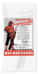 Beach Towel featuring the painting Make Your Own Declaration Of War by War Is Hell Store