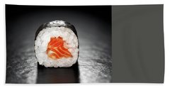 Maki Sushi Roll With Salmon Beach Towel