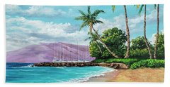 Beach Towel featuring the painting Makila Beach by Darice Machel McGuire