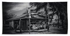 Beach Sheet featuring the photograph Mala Wharf Showers Lahaina Maui Hawaii by Sharon Mau