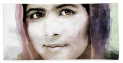 Malala Yousaf Zai 10 Beach Towel
