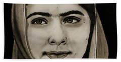 Malala Yousafzai- Teen Hero Beach Sheet