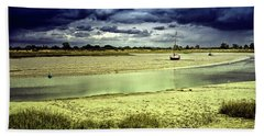 Maldon Estuary Towards The Sea Beach Towel
