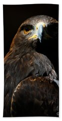 Beach Towel featuring the photograph Maleficent Golden Eagle by Sue Harper