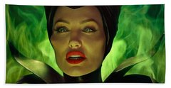 Maleficent Beach Towel