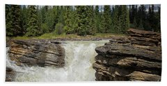 Beach Towel featuring the photograph Maligne Canyon by Patricia Hofmeester