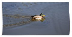 Mallard Duck Burgess Res Co Beach Towel
