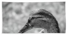 Mallard In Monochrome Beach Towel