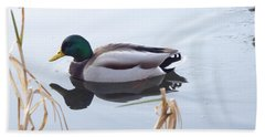 Mallard Reflected Beach Towel