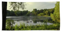 Mallards Lake II Beach Towel