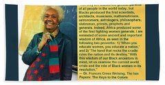Mama Frances Cress Welsing Beach Sheet