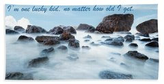 Mama, You've Always Been My Rock - Mother's Day Card Beach Sheet