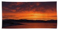 Mamantus Clouds Over Wildhorse Reservoir, Nv Beach Towel