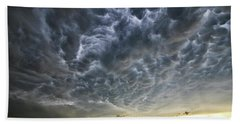 Mammatus Over Nebraska Beach Towel