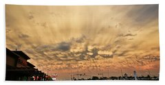 Mammatus Over Yorkton Sk Beach Sheet by Ryan Crouse