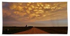 Mammatus Road Beach Towel by Ed Sweeney