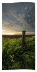 Beach Towel featuring the photograph Mammatus Sunset by Aaron J Groen