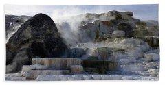 Mammoth Hot Springs Terraces Beach Towel