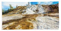 Mammoth Hot Springs Yellowstone Beach Towel