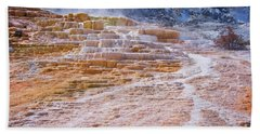 Mammoth Terraces Of Yellowstone Beach Towel