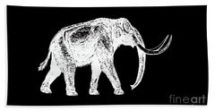 Mammoth White Ink Tee Beach Towel