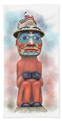 Man From Bear Clan Beach Towel