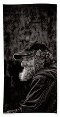 Man With A Beard Beach Sheet