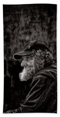 Man With A Beard Beach Sheet by Bob Orsillo