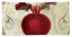 Mangia Radish Beach Towel by Mindy Sommers