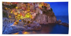 Manarola By Moonlight Beach Sheet