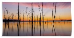 Manasquan Reservoir Long Exposure Beach Towel