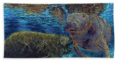 Manatee Motherhood Beach Towel