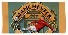 Manchester United Painting Beach Towel