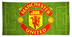 Manchester United Theater Of Dreams Large Canvas Art, Canvas Print, Large Art, Large Wall Decor Beach Sheet by David Millenheft