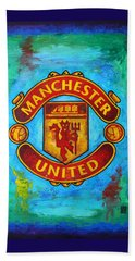 Manchester United Vintage Beach Towel by Dan Haraga