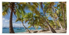 Beach Towel featuring the photograph Manchioneel Bay, Cooper Island by Adam Romanowicz