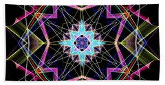 Beach Sheet featuring the digital art Mandala 3304a  by Rafael Salazar