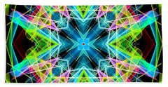 Beach Sheet featuring the digital art Mandala 3308a  by Rafael Salazar