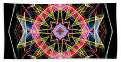 Beach Sheet featuring the digital art Mandala 3313 by Rafael Salazar