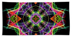 Beach Sheet featuring the digital art Mandala 3324a by Rafael Salazar