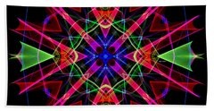 Beach Sheet featuring the digital art Mandala 3351 by Rafael Salazar