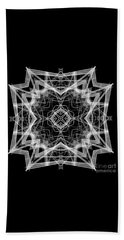 Beach Sheet featuring the digital art Mandala 3354b In Black And White by Rafael Salazar