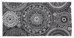 Mandala Bouquet Beach Towel
