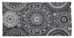 Mandala Bouquet Beach Sheet