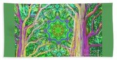 Mandala Forest Beach Sheet