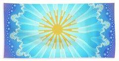 Beach Sheet featuring the digital art Mandala by Jutta Maria Pusl